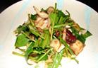 京みぶ菜と揚げたこの豆腐サラダ