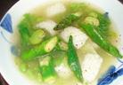あおり烏賊と夏野菜の塩炒め