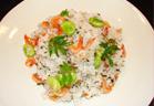 桜海老と空豆のチャーハン
